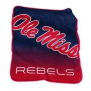 Logo Brand Ole Miss Rebels Raschel Throw Blanket