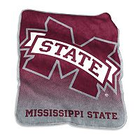 Logo Brand Mississippi State Bulldogs Raschel Throw Blanket