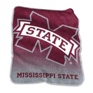 Logo Brand Mississippi State Bulldogs Raschel Throw Blanket