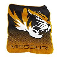 Logo Brand Missouri Tigers Raschel Throw Blanket