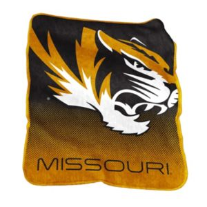 Logo Brand Missouri Tigers Raschel Throw Blanket