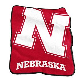 Logo Brand Nebraska Cornhuskers Raschel Throw Blanket
