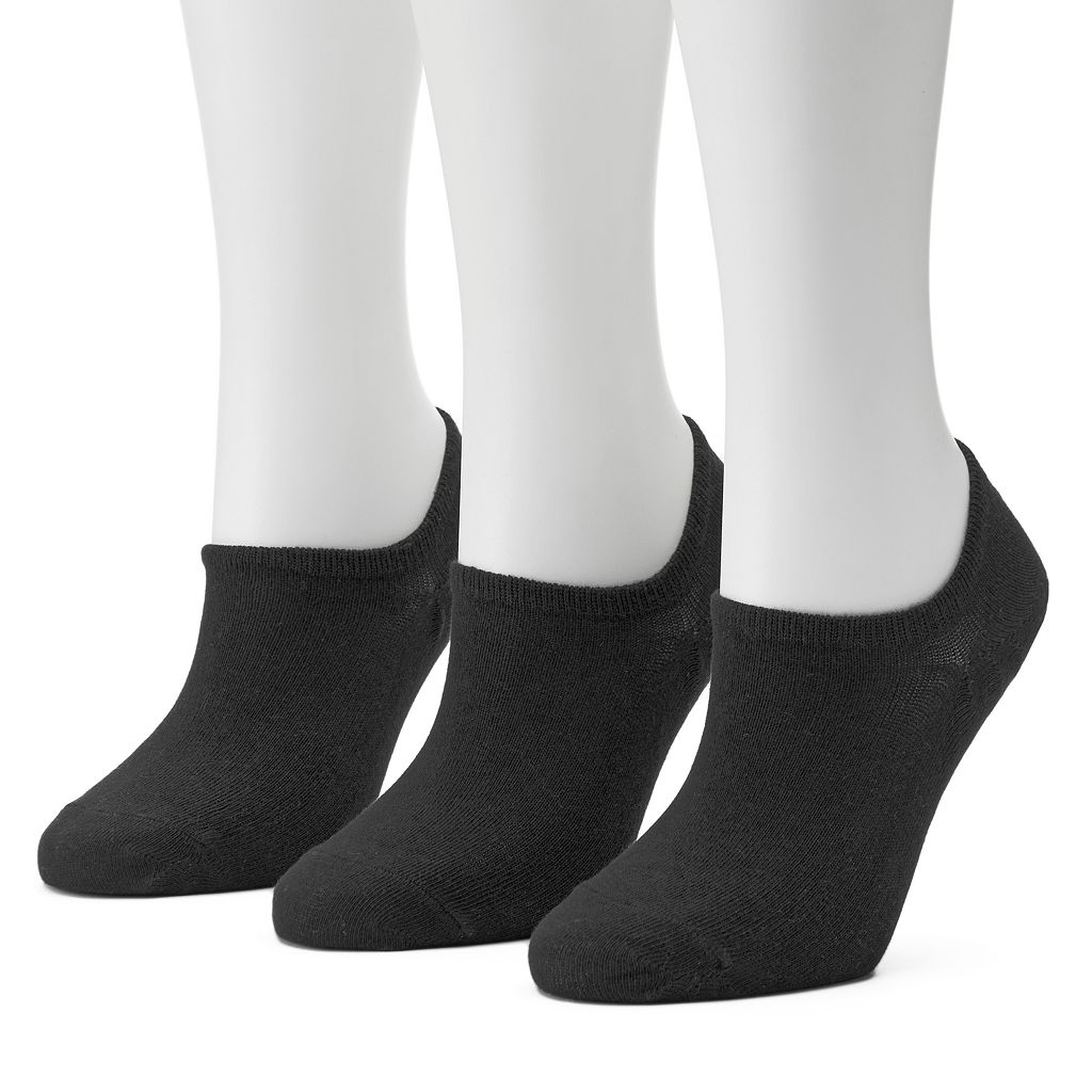 Women's SONOMA Goods for Life™ 3-pk. Solid Non-Slip No Show Socks