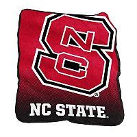 Logo Brand North Carolina State Wolfpack Raschel Throw Blanket