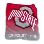 Logo Brand Ohio State Buckeyes Raschel Throw Blanket