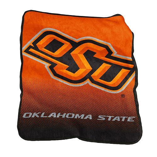 Logo Brand Oklahoma State Cowboys Raschel Throw Blanket