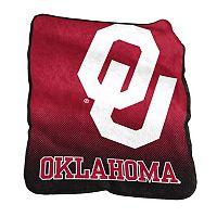 Logo Brand Oklahoma Sooners Raschel Throw Blanket