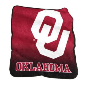 Logo Brand Oklahoma Sooners Raschel Throw Blanket