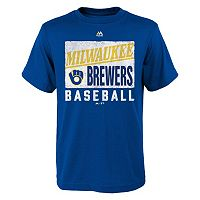 Boys 8-20 Majestic Milwaukee Brewers Out of the Box Tee