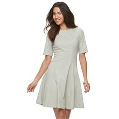 Women's Sharagano Ponte Fit & Flare Dress