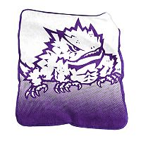 Logo Brand TCU Horned Frogs Raschel Throw Blanket