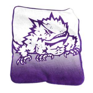 Logo Brand TCU Horned Frogs Raschel Throw Blanket