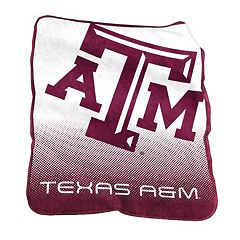 Logo Brand Texas A&M Aggies Raschel Throw Blanket