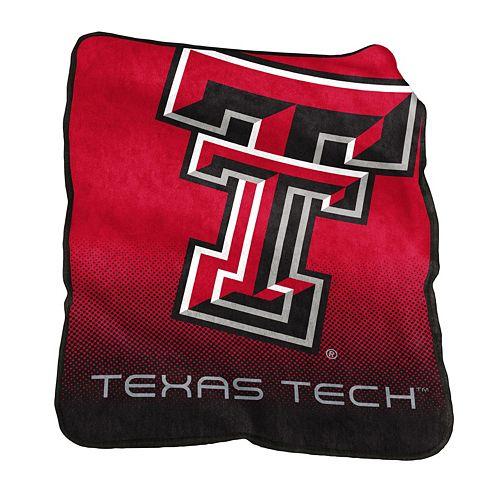 Logo Brand Texas Tech Red Raiders Raschel Throw Blanket