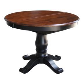 International Concepts Round Pedestal Dining Table & Leaf 2-piece Set