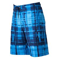 Men's SONOMA Goods for Life™ Plaid Stretch Swim Trunks