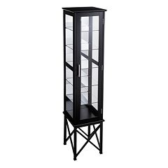 Anthony 6-Shelf Lighted Curio Cabinet  by