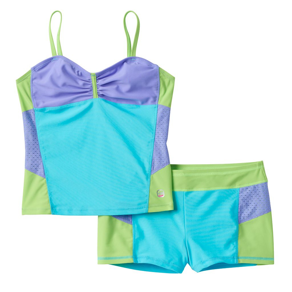 Girls 7-16 Free Country Colorblock Tankini Swimsuit Set