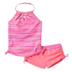 Girls 7-16 Free Country Striped Halter Tankini Swimsuit Set