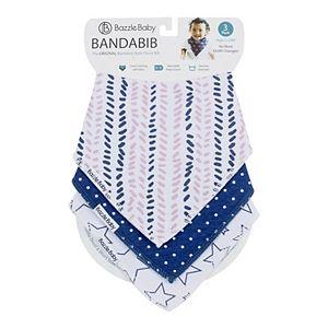 Bazzle Baby 3-pk.Stars & Stripes Bandana Bib Set