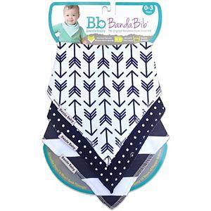 Bazzle Baby 3-pk. Arrows, Dots & Striped Bandana Bib Set