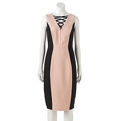 Women's Jax Colorblock Lace-Up Sheath Dress