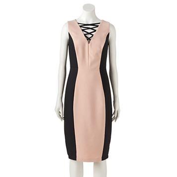 Women's Jax Colorblock Lace-Up Sheath Dress
