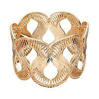 Jennifer Lopez Textured Wavy Stretch Bracelet