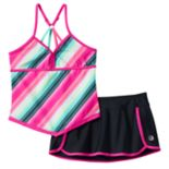 Girls 7-16 Free Country Apron Tankini Swimsuit Set