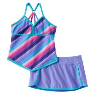 Girls 7-16 Free Country Apron Tankini Swimsuit Set