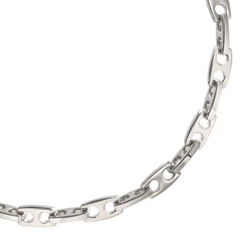 Stainless Steel Dual Hole Necklace - 22-in. - Men