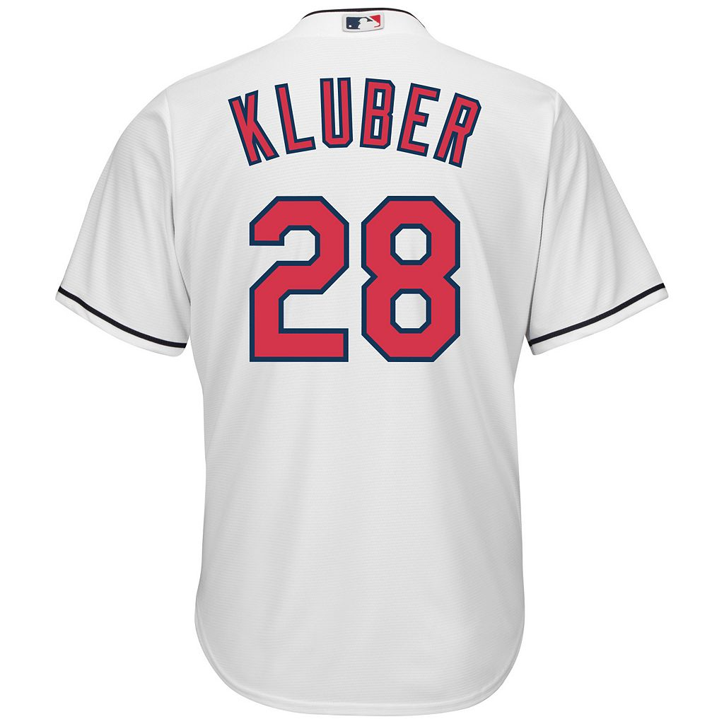Men's Majestic Cleveland Indians Corey Kluber Cool Base Replica MLB Jersey