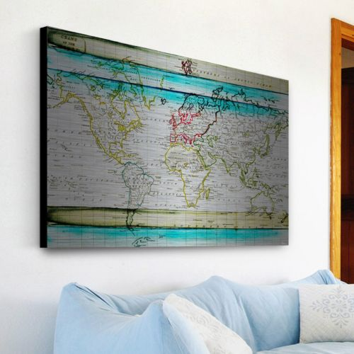 Parvez Taj Jet Setting Brushed Aluminum Wall Art