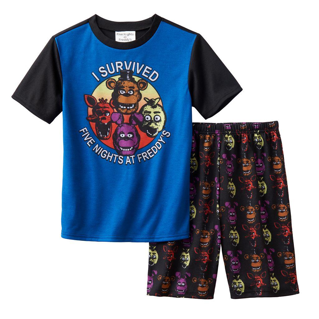 Boys 6-12 Five Nights At Freddy's Sleep Shorts