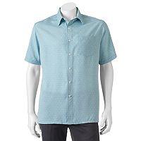 Men's Croft & Barrow® Classic-Fit Island Microfiber Button-Down Shirt