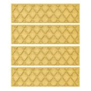 WaterGuard Argyle Lattice 4-pack Indoor Outdoor Stair Tread Set
