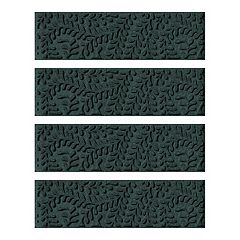 WaterGuard Boxwood Leaf 4-pack Indoor Outdoor Stair Tread Set