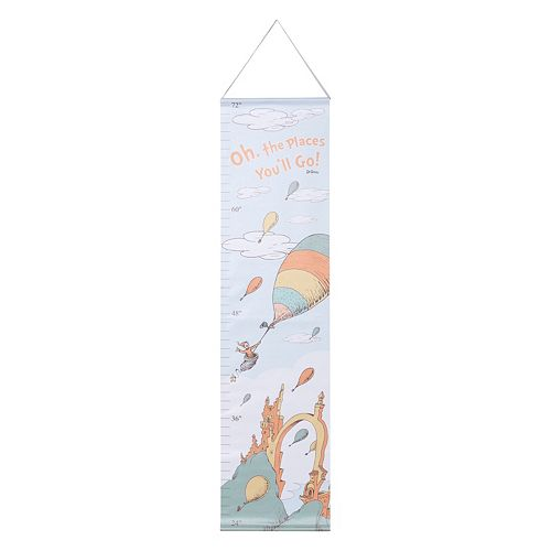 """Dr. Seuss """"Oh, the Places You'll Go!"""" Mint Growth Chart by Trend Lab"""