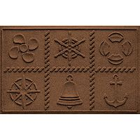 WaterGuard Nautical Grid Indoor Outdoor Mat - 24'' x 36''