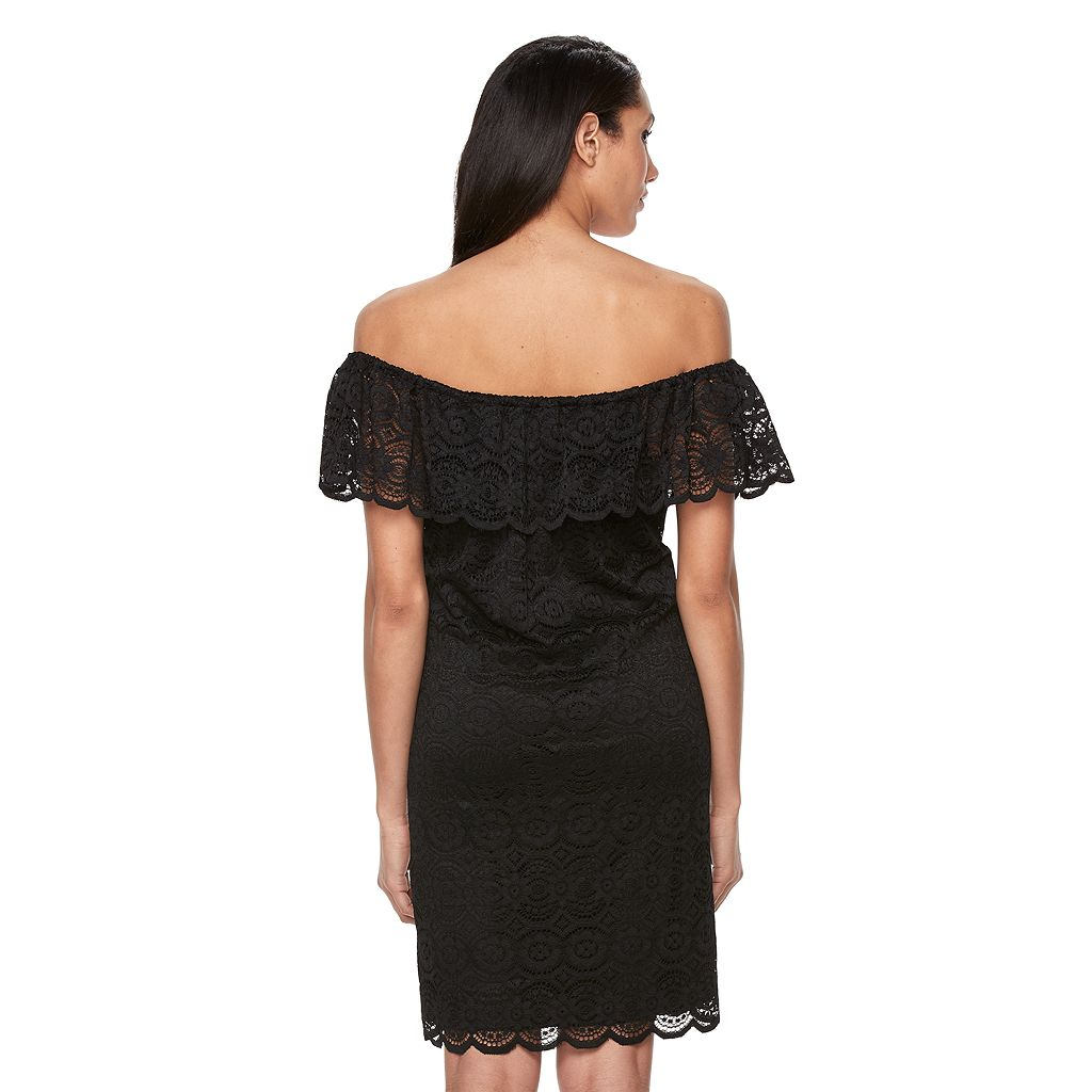 Women's Ronni Nicole Off-the-Shoulder Lace Dress