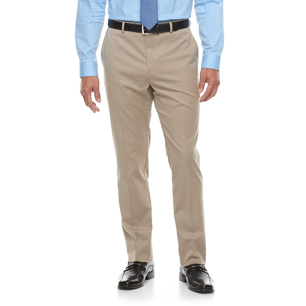 Men's Apt. 9® Premier Flex Extra-Slim Fit Flat-Front Tan Suit Pants