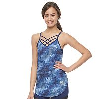 Juniors' Her Universe Superman 2-in-1 Sports Bra Strappy Tank by DC Comics