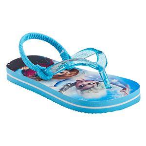 Disney's Frozen Elsa & Anna Toddler Girl Glitter Thong Flip-Flops