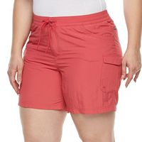 Plus Size Columbia Amberley Stream Cargo Shorts
