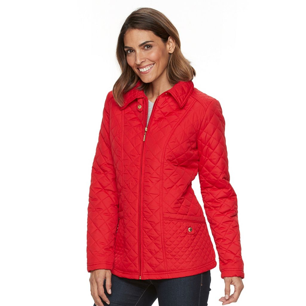 Women's Weathercast Zip-Front Quilted Jacket