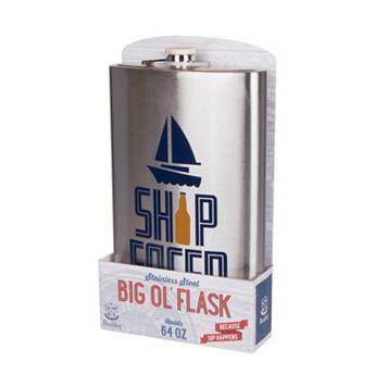 Wembley 64-Ounce Ship Faced Mega Flask
