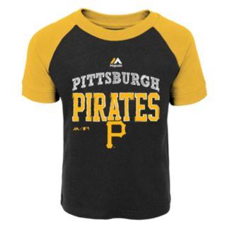 Toddler Majestic Pittsburgh Pirates Game Ringer Tee