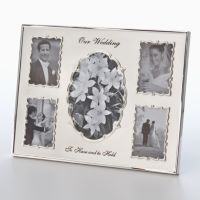 Malden® Metal Wedding 5-Opening Collage Frame