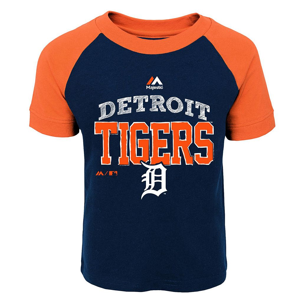 Toddler Majestic Detroit Tigers Game Ringer Tee