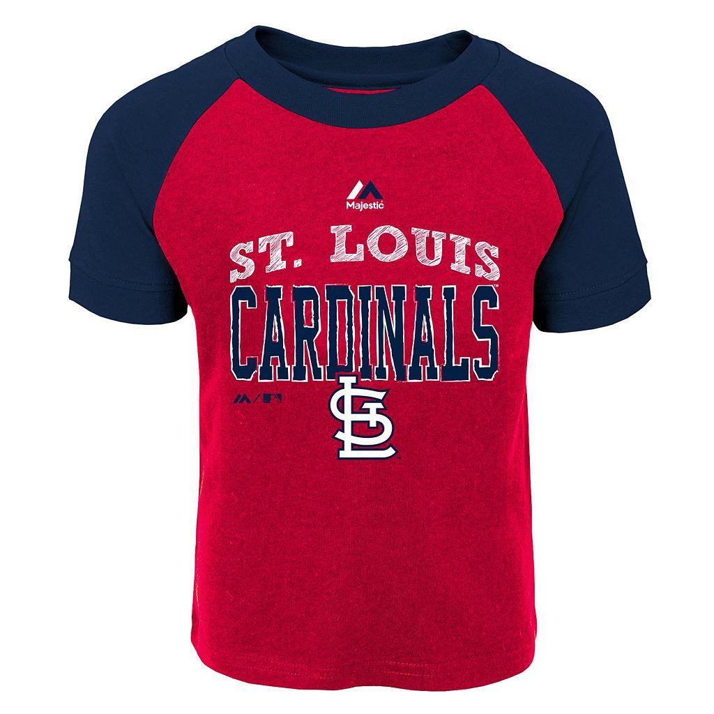 Toddler Majestic St. Louis Cardinals Game Ringer Tee